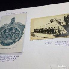 Militaria: SUBMARINO ALEMAN TIPO VII-C,TRIPULACION Y DOCUMENTO TIPO POSTAL SUBMARINO ALEMÁN I WW.. Lote 194989563