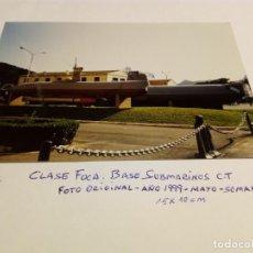 Militaria: CLASE FOCA Y TIBURÓN.BASE SUBMARINOS CARTAGENA.FOTO ORIGINAL 1999.X15CM.. Lote 194989885