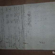 Militaria: DOCUMENTO AÑO 1823 . BATALLÓN 13. BARCELONA. Lote 194995450