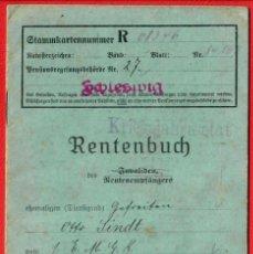 Militaria: ORIGINAL. LIBRO DE PENSIONES DE MILITAR - ALEMANIA - RENTENBUCH - 1920. Lote 195023453