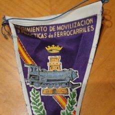 Militaria: VALLADOLID, BANDERÍN FERROCARRILES, RENFE. MUY RARO. AÑO 1961.. Lote 195045965