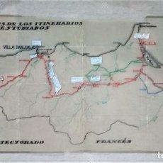 Militaria: MAPA MILITAR DEL PROTECTORADO DE MARRUECOS ESPAÑOL. Lote 195046043