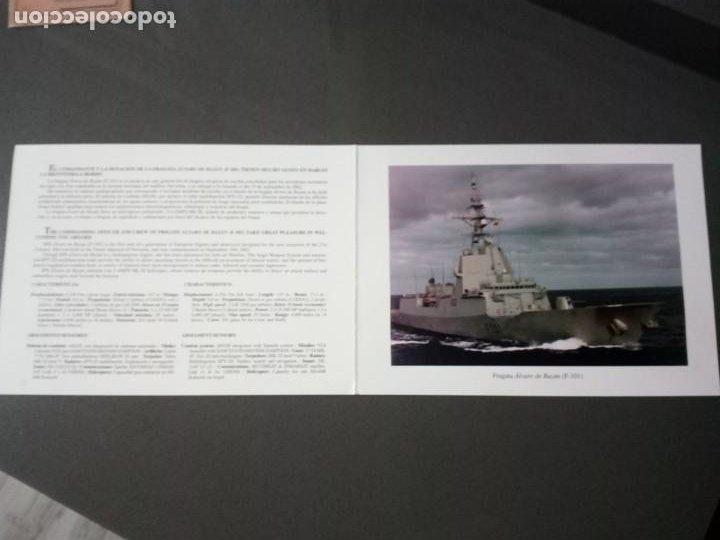 Militaria: Díptico con características del buque.F-101 Álvaro de Bazán. - Foto 2 - 195048420