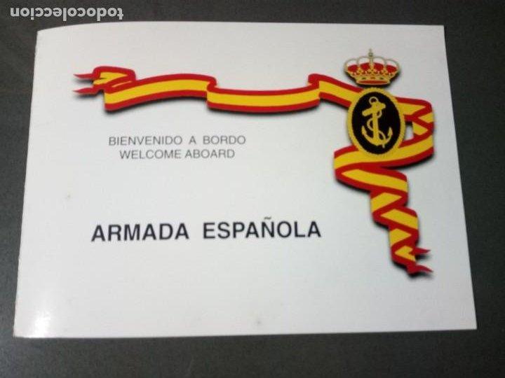 Militaria: Díptico con características del buque.F-101 Álvaro de Bazán. - Foto 4 - 195048420