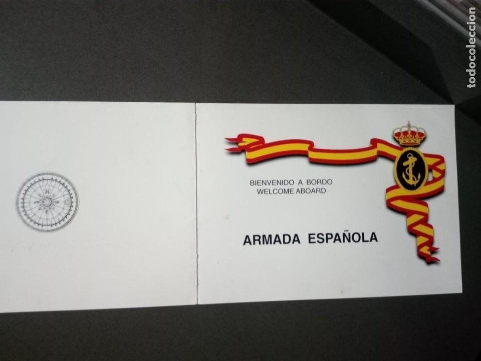 Militaria: Díptico con características del buque.F-101 Álvaro de Bazán. - Foto 5 - 195048420
