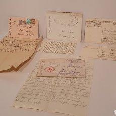 Militaria: INTERESANTE LOTE DE 5 CARTAS ORIGINALES ALEMANAS DE LA EPOCA NAZI./ MIREN LAS FOTOGRAFÍAS. Lote 195051910