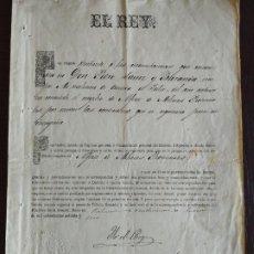 Militaria: (PXJ-200202)1877-1880 LOTE MILITAR DE PEDRO SAINZ DE BARANDA Y ALDAMA MADRID FIRMA REAL ALFONSO XII. Lote 195067290