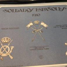 Militaria: CARPETA SOLDADOS ESPAÑOLES 1910 TERCER FASCÍCULO. Lote 195089560