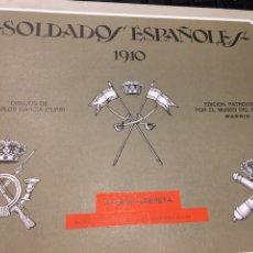Militaria: CARPETA SOLDADOS ESPAÑOLES 1910 CUARTA CARPETA. Lote 195090290