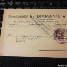 Militaria: EL DIAMANTE. SANTANDER. CENSURA MILITAR.. Lote 195136626