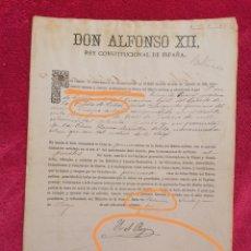 Militaria: NOMBRAMIENTO DE CABALLERO DE PRIMERA CLASE DE LA ORDEN DEL MÉRITO MILITAR. GUERRA DE CUBA. 1883. Lote 195150595