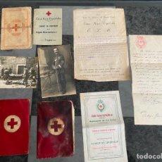 Militaria: LOTE DE 9 DOCUMENTOS DE LA CRUZ ROJA , CADIZ , FOTOGRAFÍAS , DESDE 1914. Lote 195172152