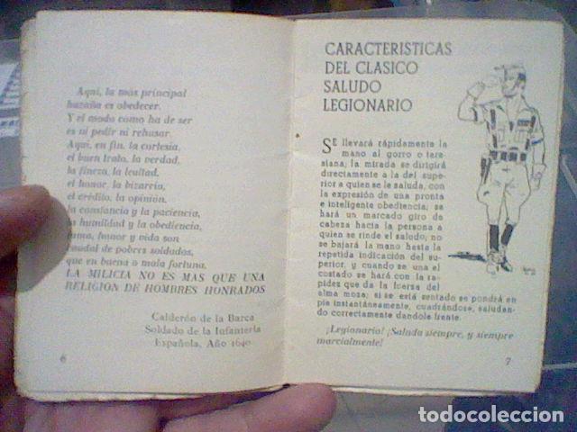 Militaria: LEGION CREDO E HIMNOS LEGIONARIOS LIBRITO MUY SOBADO 28 PAG 11 X 8 CMS - Foto 4 - 195303467