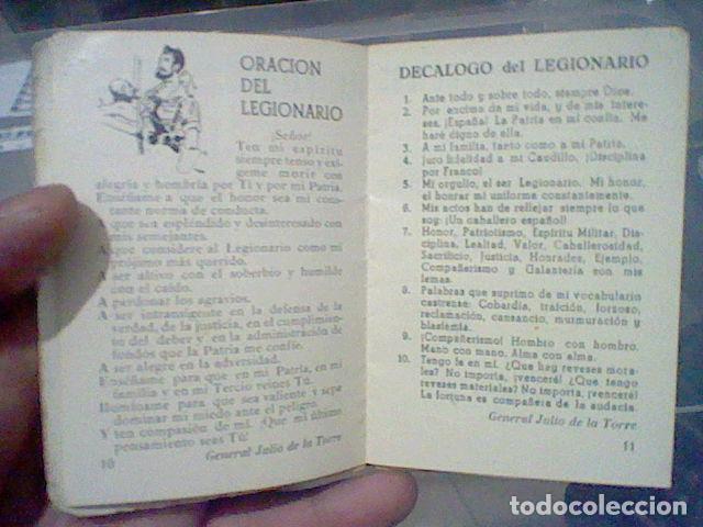 Militaria: LEGION CREDO E HIMNOS LEGIONARIOS LIBRITO MUY SOBADO 28 PAG 11 X 8 CMS - Foto 9 - 195303467