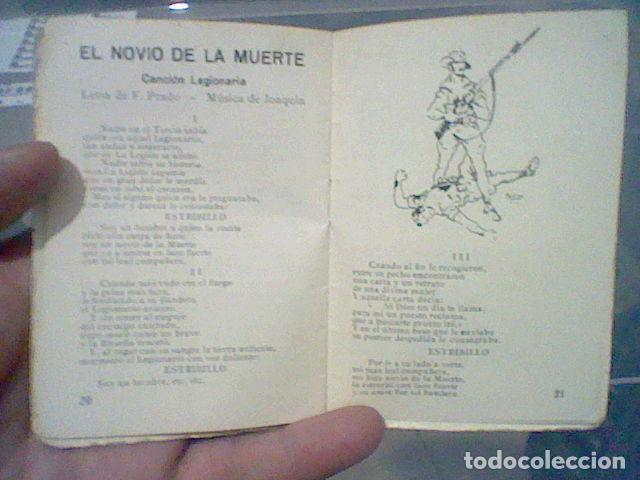 Militaria: LEGION CREDO E HIMNOS LEGIONARIOS LIBRITO MUY SOBADO 28 PAG 11 X 8 CMS - Foto 11 - 195303467