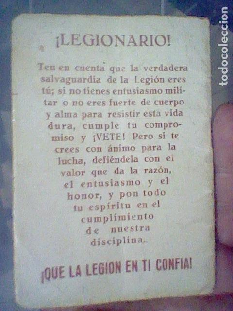 Militaria: LEGION CREDO E HIMNOS LEGIONARIOS LIBRITO MUY SOBADO 28 PAG 11 X 8 CMS - Foto 16 - 195303467