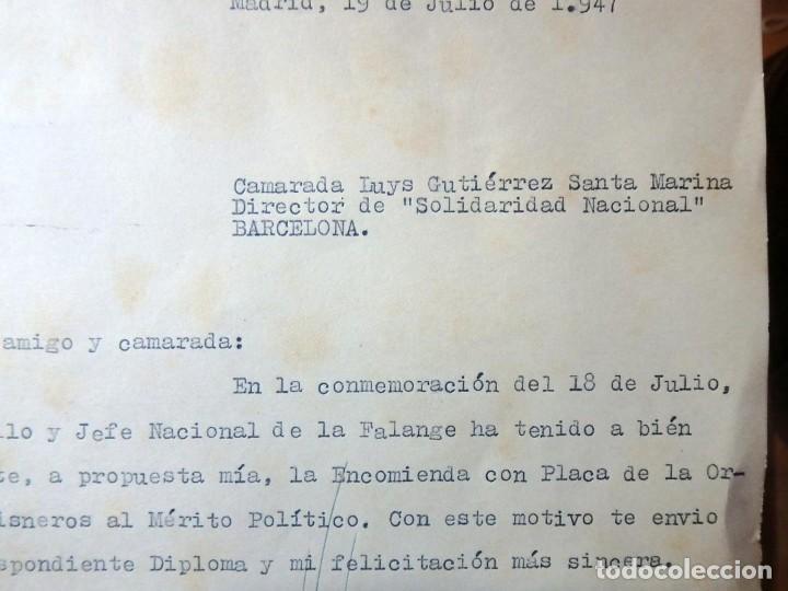 Militaria: (JX-200252)Concesión de la Encomienda con Placa de la Orden de Cisneros a D.Luis G.Santa Marina . - Foto 6 - 195346537