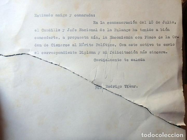 Militaria: (JX-200252)Concesión de la Encomienda con Placa de la Orden de Cisneros a D.Luis G.Santa Marina . - Foto 7 - 195346537