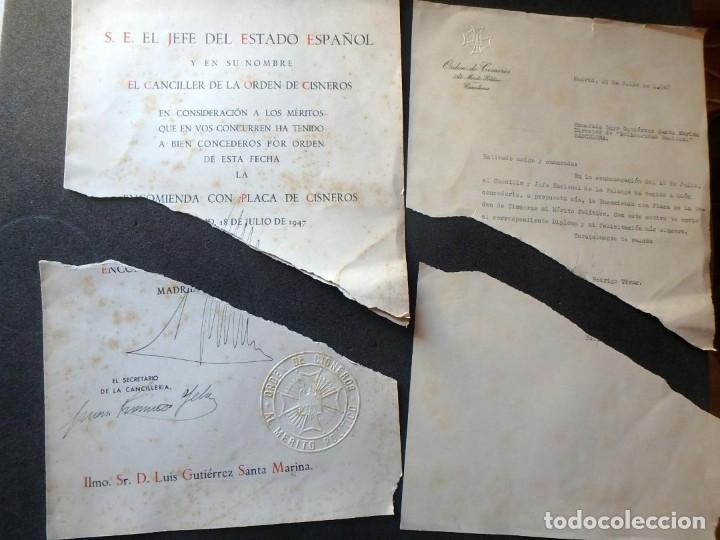 Militaria: (JX-200252)Concesión de la Encomienda con Placa de la Orden de Cisneros a D.Luis G.Santa Marina . - Foto 8 - 195346537