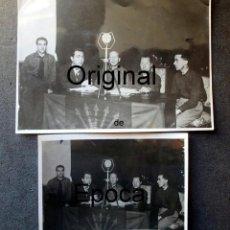 Militaria: (JX-200254)DOS FOTOGRAFÍAS DEL MITIN DE JOSE ANTONIO PRIMO DE RIVERA EL 3 DE MAYO DE 1935 EN BCN .. Lote 195346623