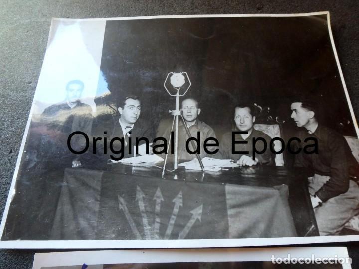 Militaria: (JX-200254)Dos fotografías del Mitin de Jose Antonio Primo de Rivera el 3 de Mayo de 1935 en Bcn . - Foto 2 - 195346623
