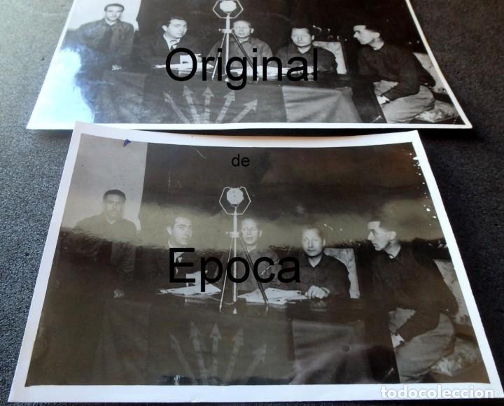 Militaria: (JX-200254)Dos fotografías del Mitin de Jose Antonio Primo de Rivera el 3 de Mayo de 1935 en Bcn . - Foto 3 - 195346623