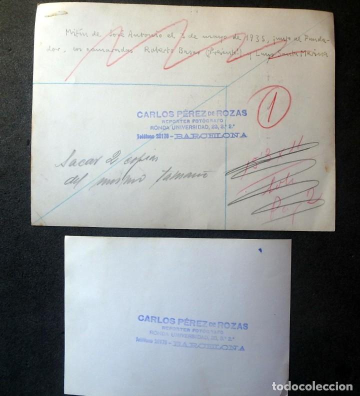 Militaria: (JX-200254)Dos fotografías del Mitin de Jose Antonio Primo de Rivera el 3 de Mayo de 1935 en Bcn . - Foto 5 - 195346623