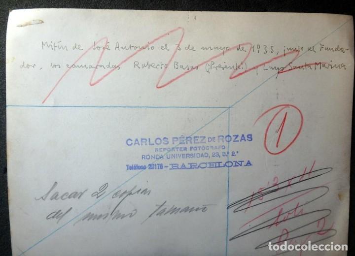 Militaria: (JX-200254)Dos fotografías del Mitin de Jose Antonio Primo de Rivera el 3 de Mayo de 1935 en Bcn . - Foto 6 - 195346623