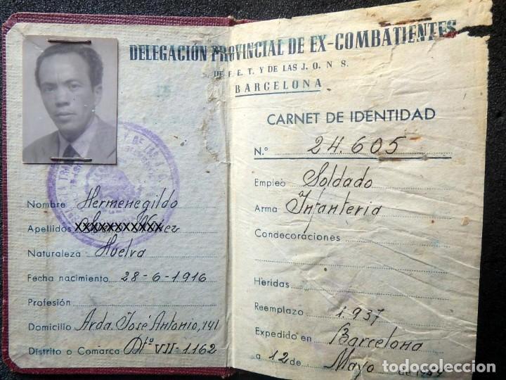 Militaria: (JX-200260)GUERRA CIVIL,CARNET DE EX-COMBATIENTE, DELEGACIÓN PROVINCIAL DE EX-COMBATIENTES DE F.E.T. - Foto 3 - 195366557
