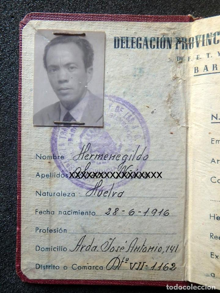 Militaria: (JX-200260)GUERRA CIVIL,CARNET DE EX-COMBATIENTE, DELEGACIÓN PROVINCIAL DE EX-COMBATIENTES DE F.E.T. - Foto 4 - 195366557