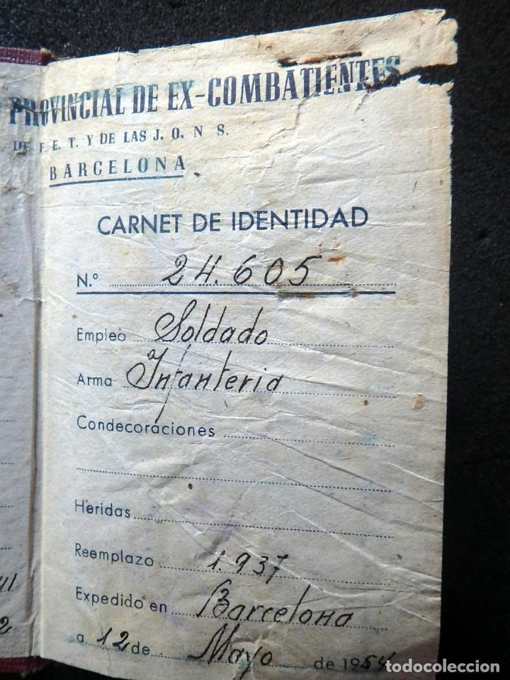 Militaria: (JX-200260)GUERRA CIVIL,CARNET DE EX-COMBATIENTE, DELEGACIÓN PROVINCIAL DE EX-COMBATIENTES DE F.E.T. - Foto 5 - 195366557