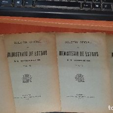 Militaria: GUERRA CIVIL, BOLETIN OFICIAL DEL MINISTERIO DE ESTADO, AGOSTO, SEPTIEMBRE, OCTUBRE, NOVIEMBRE 1936. Lote 195370338