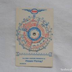 Militaria: ESSO VINTAGE CIRCULAR SLIDE RULE FLIGHT AVIATION PLAN - RARO. Lote 195374680