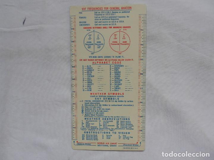 ESSO AVIATION PRODUCTS VINTAGE FLIGHT PLAN SECUENCE - RARO (Militar - Propaganda y Documentos)