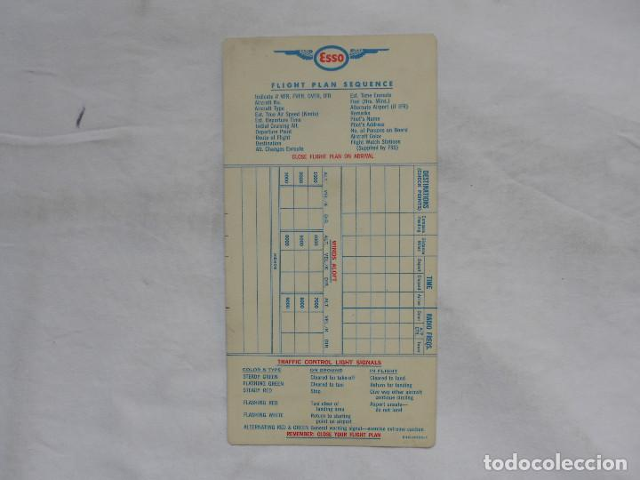 Militaria: ESSO AVIATION PRODUCTS VINTAGE FLIGHT PLAN SECUENCE - RARO - Foto 2 - 195374891