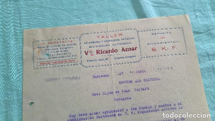 ARRIBA ESPAÑA..SEGUNDO AÑO TRINFAL..1938..TALLER VDA,RICARDO AZNAR..TARAZONA..ARAGON.. (Militar - Propaganda y Documentos)