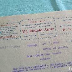 Militaria: ARRIBA ESPAÑA..SEGUNDO AÑO TRINFAL..1938..TALLER VDA,RICARDO AZNAR..TARAZONA..ARAGON... Lote 195376615