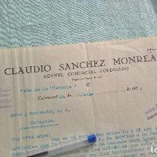 Militaria: AÑO DE LA VICTORIA..1939..CLAUIDIO SANCHEZ..AGENTE COMERCIAL..CALATAYUD.. Lote 195376938