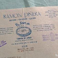 Militaria: FRANCO..ARRIBA ESPAÑA..1938 II AÑO TRINFAL..GIJON..RAMON PIÑERA..EL ESPEJO AZUL. Lote 195378763