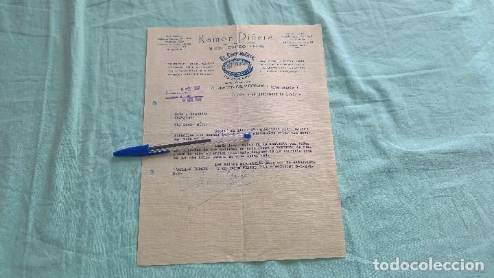 Militaria: Viva España..1937..Gijon..El Espejo Azul..Almacen de Vidrios..Viva Franco. - Foto 2 - 195378978