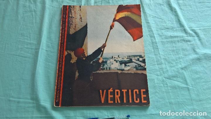 Militaria: Vertice..1938..Avance por Cataluña..revista Falange.. - Foto 2 - 195381853