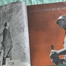 Militaria: VERTICE..1938..AVANCE POR CATALUÑA..REVISTA FALANGE... Lote 195381853