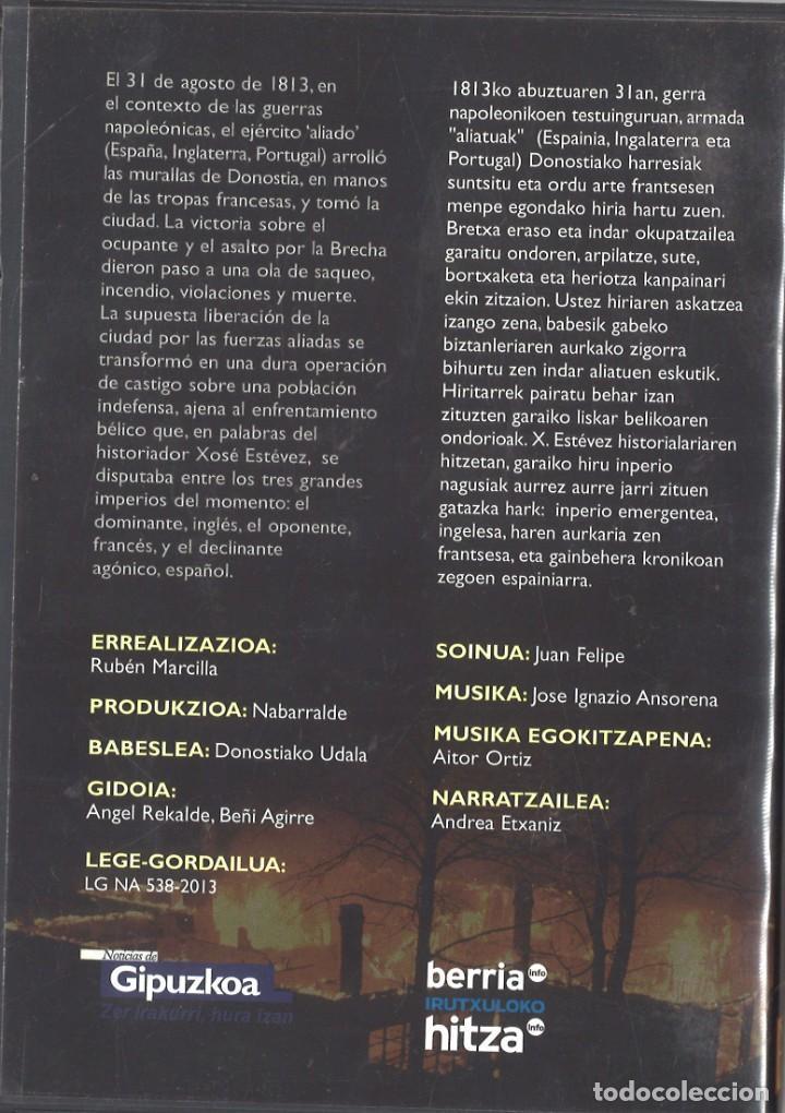 Militaria: DVD, Donostia 1813, Víctima de tres imperios. Destrucción de San Sebastián - Foto 2 - 195391237
