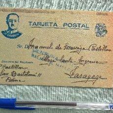 Militaria: EL CAUDILLO..TARGETA POSTAL..CENSURA MILITAR..GUERRA CIVIL. Lote 195447683