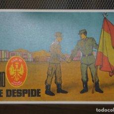 Militaria: DOCUMENTO DE DESPEDIDA DEL CIR Nº 10 DEL REEMPLAZO DE 1968 DE LA 5ª REGIÓN MILITAR. INF. 4 FOTOS. Lote 195449576