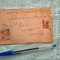 Militaria: GUERRA CIVIL.1937...5 COMPAÑIA DE VIVERES A LOMO..3 SECCION..CENSURA MILITAR LA CORUÑA.. Lote 195450495