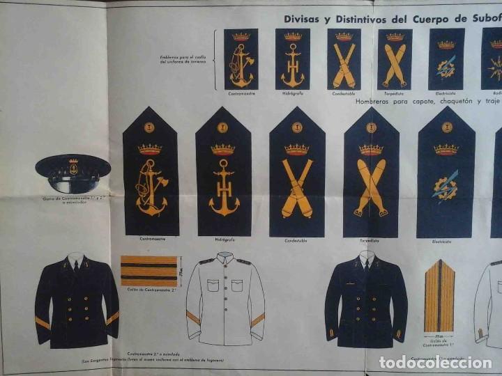 Militaria: divisas y distintivos de suboficiales de la armada - Foto 2 - 195497213