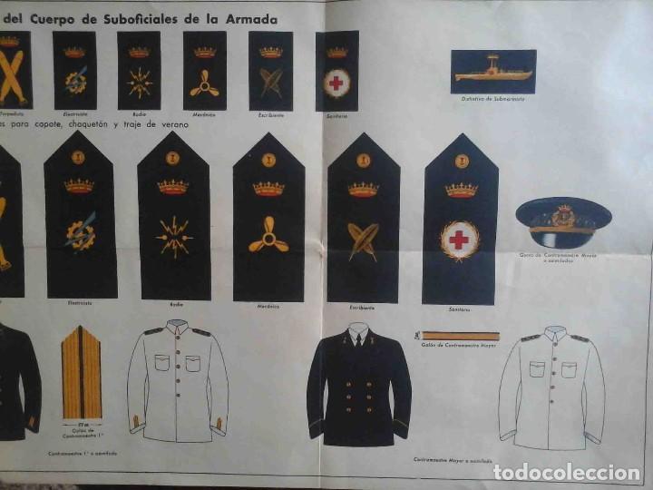 Militaria: divisas y distintivos de suboficiales de la armada - Foto 3 - 195497213