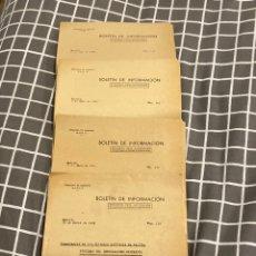 Militaria: LOTE 4 BOLETINES DE INFORMACIÓN DE EMBAJADA ALEMANA CONSECUTIVOS 1941. Lote 195514741