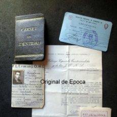 Militaria: (JX-200234)DOCUMENTO Y CARNET DE FALANGE ESPAÑOLA,LA ROCA DEL VALLES.. Lote 195538601